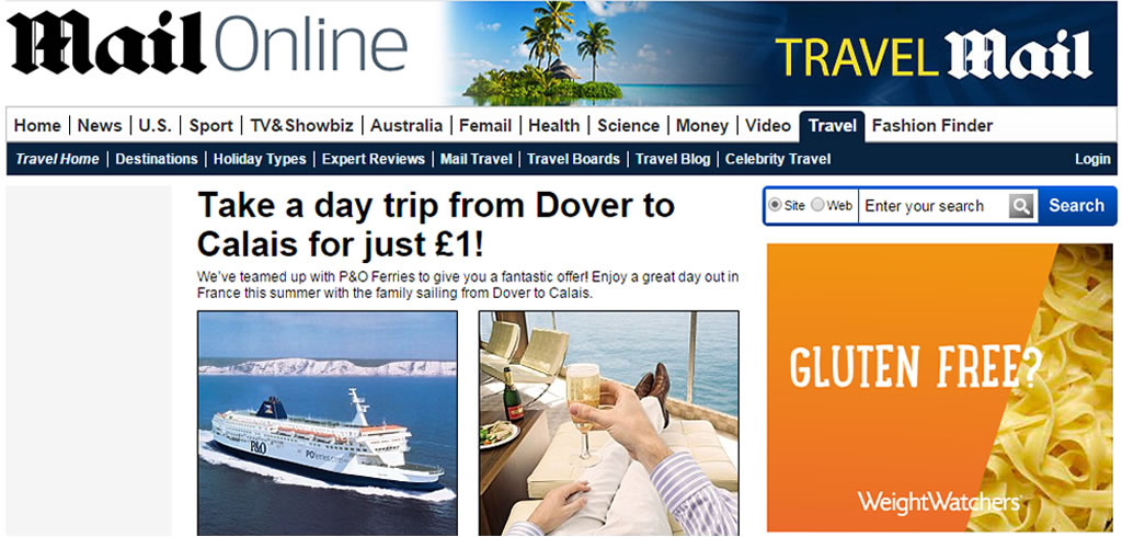 Daily Mail P&O offer