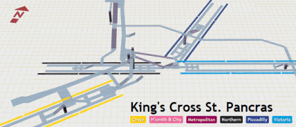 3D Map Of London Underground Stations