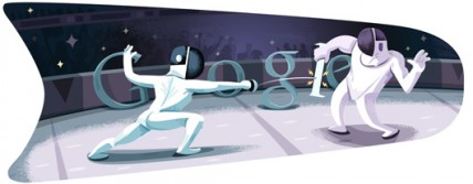 Google Doodle: Olympic Fencing 2012