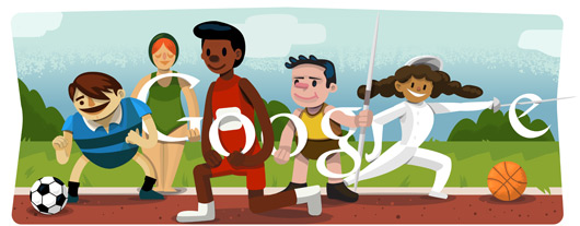 Google Doodle: Olympic Opening Ceremony 2012