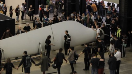 Liberate Tate delivering the wind turbine blade