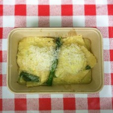 Ricotta ravioli with butter and sage from Pasta e Basta