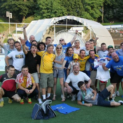 Friendly Football Match Between International Fans And Volunteers Of Friendly Ukraine