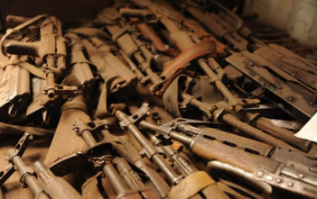 Part of a weapons haul collected in the past couple of months as part of the DDRRR process in the eastern Democratic Republic of Congo