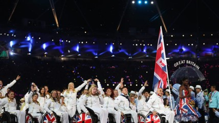 ParalympicsGB parade during the opening ceremony
