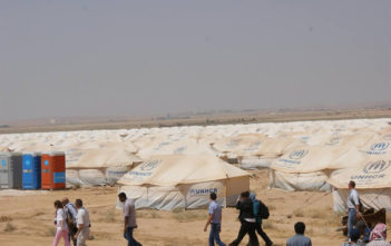 Za'atri camp in northern Jordan can eventually host up to 113,000 refugees