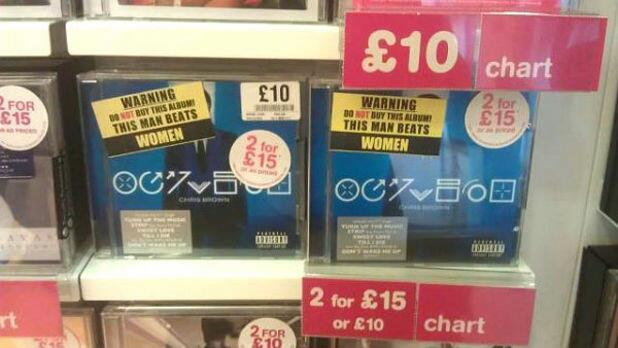 Chris Brown album coming with unofficial health warnings in HMV