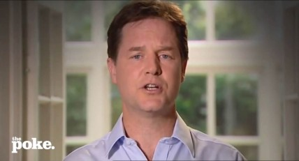 Still from the Nick Clegg Says Sorry (The Autotune Remix) video on YouTube