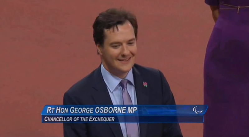 George Osborne booed at the Paralympics
