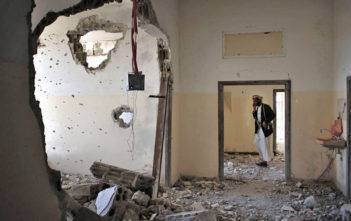 A family home in Shabb, Yemen destroyed during clashes between Republican Guards and opposition gunmen in 2011