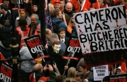 A hundred thousand protest against austerity politics in London
