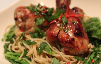5-Spice, Soy and Honey-Roasted Chicken with Momofuku style Octo Vinaigrette