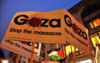 Protest against deaths in Gaza