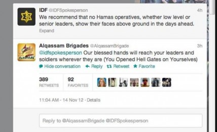 The Gaza conflict on twitter