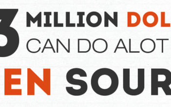 43 million dollars can do a lot with open source