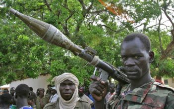 A rebel fighter in the Central African Republic