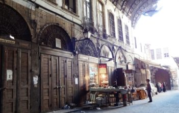 Damascus' Old Market on a quiet Friday. Sanctions and insecurity have hit the Syrian economy hard