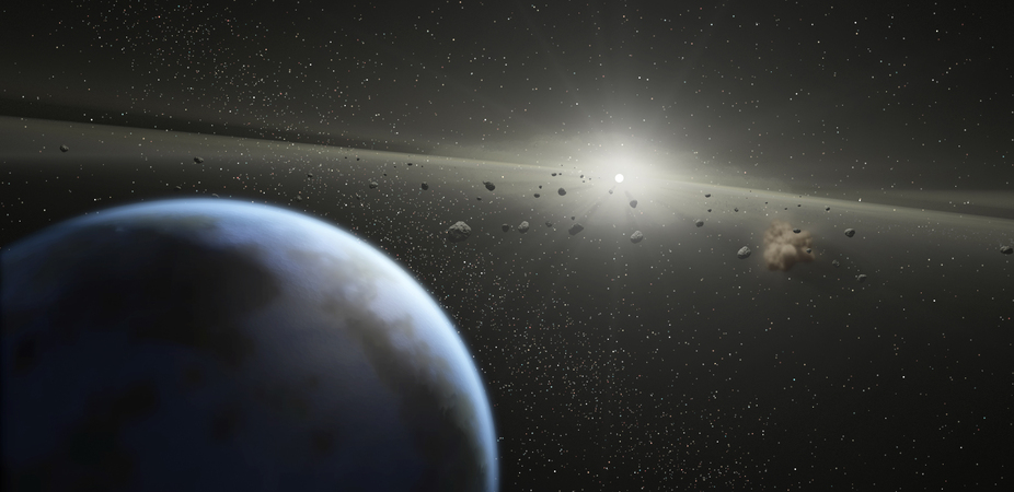 Image showing asteroids near earth