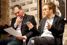 Julien Barnes-Dacey and Paddy O'Connell at the Frontline Club