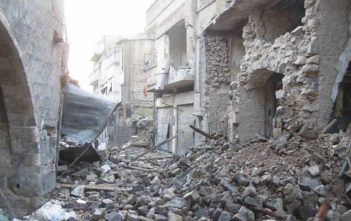 Destruction in Homs, Syria