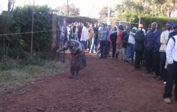 People queue to vote in Kenya