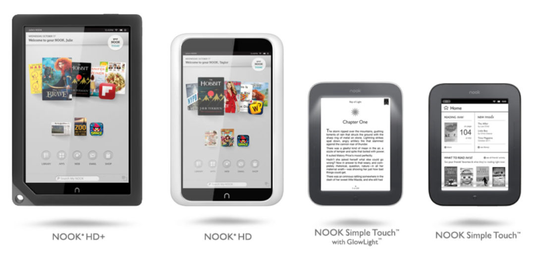 Nook e-reader and tablets