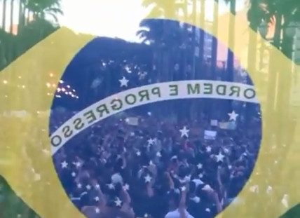 Protesters on the streets in Brazil