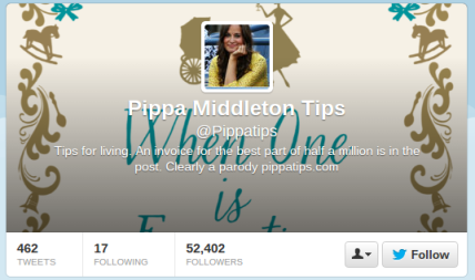 Pippa Middletop Tips Twitter account
