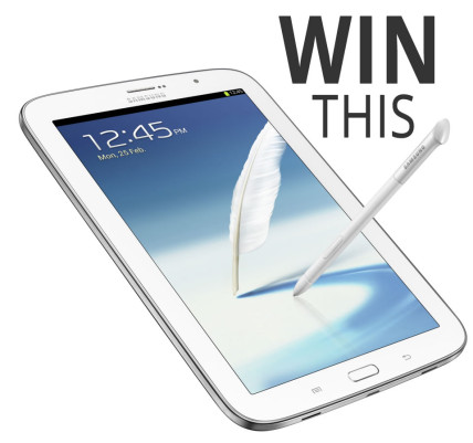 Win a Samsung Galaxy Note 8 Android Tablet