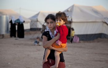 Syrian refugees at Domiz camp, Iraqi Kurdistan