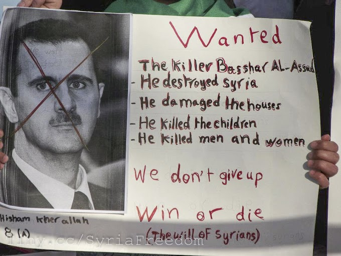 Protest banner at Freedom sit-in for Syria. Amman, Jordan