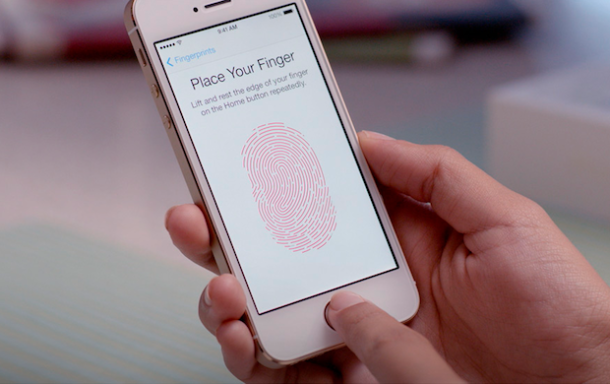 Apple Touch ID on an iPhone 5S