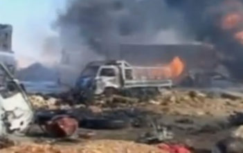 Aftermath of ISIS truck bomb in Hama