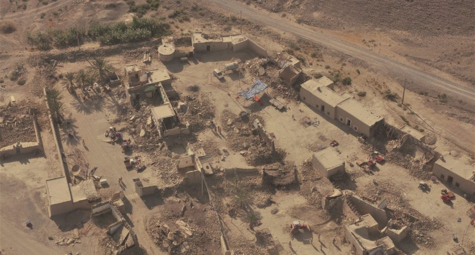 Settlements destroyed by the magnitude 7.7 earthquake in September in Balochistan, Pakistan