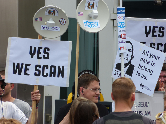 Digital privacy protesters in Berlin