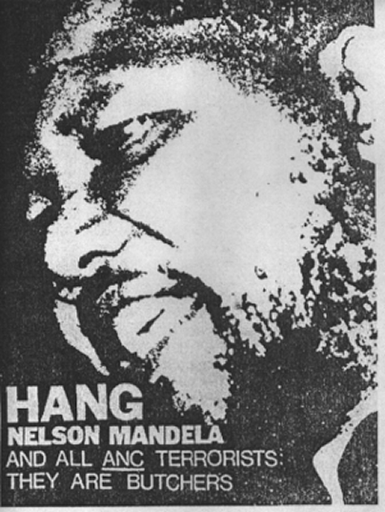 """Hang Mandela"" poster produced by the Federation of Conservative Students in the 1980s"