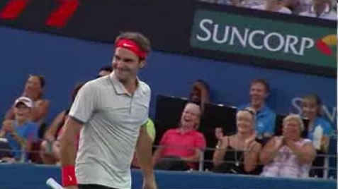 Roger Federer at Brisbane International