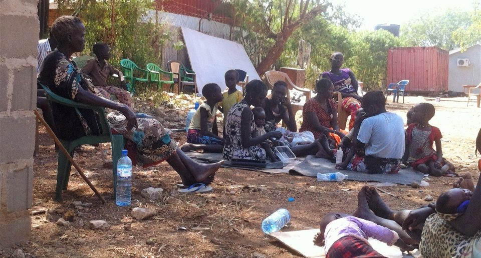 Internally displaced people at the Episcopal Cathedral in Juba, South Sudan