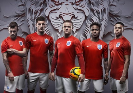 England away kit for 2014 World Cup in Brazil