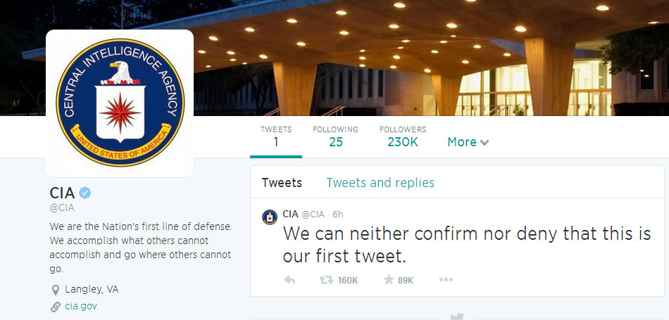CIA on Twitter