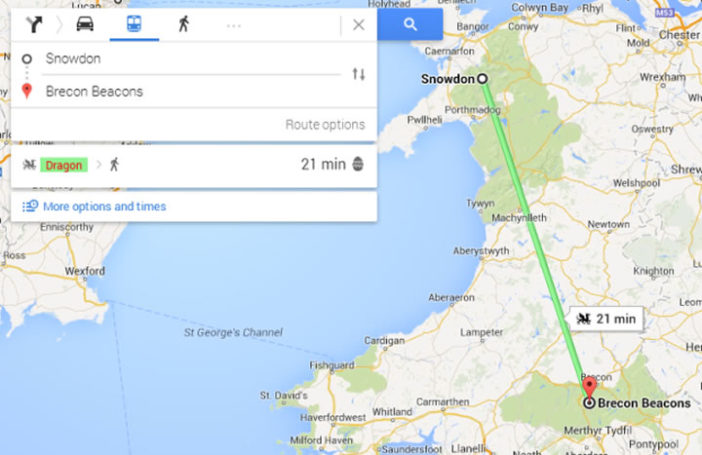 Google Maps dragon directions