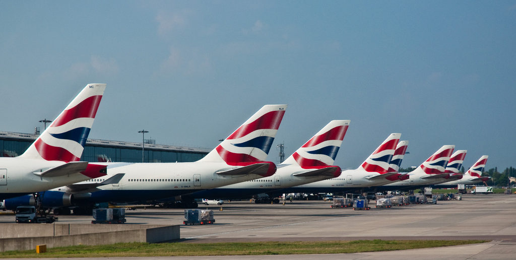 Aeroplanes at Heathrow Airport