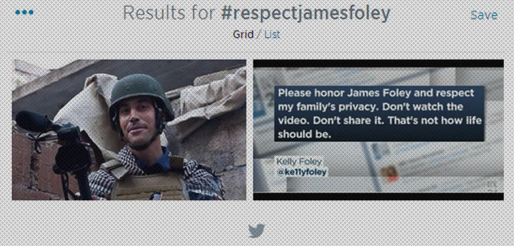 #RespectJamesFoley on Twitter