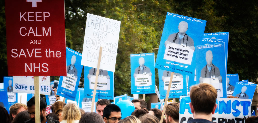 NHS junior doctors protest