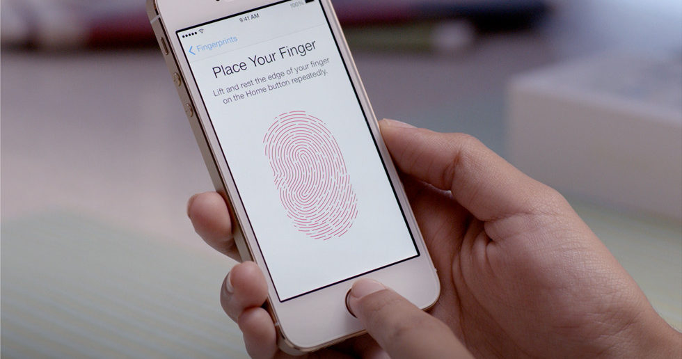 Apple iPhone 5S fingerprint scanner