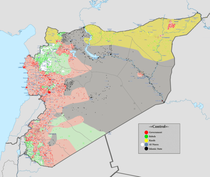 The situation in Syria this month.