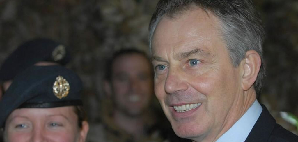Tony Blair with the military