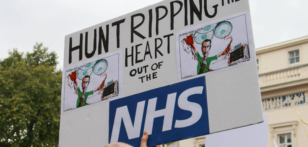 Protest in support of NHS junior doctors
