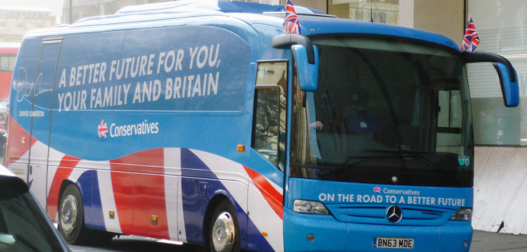 "Conservative ""battle bus"" in 2015 general election"