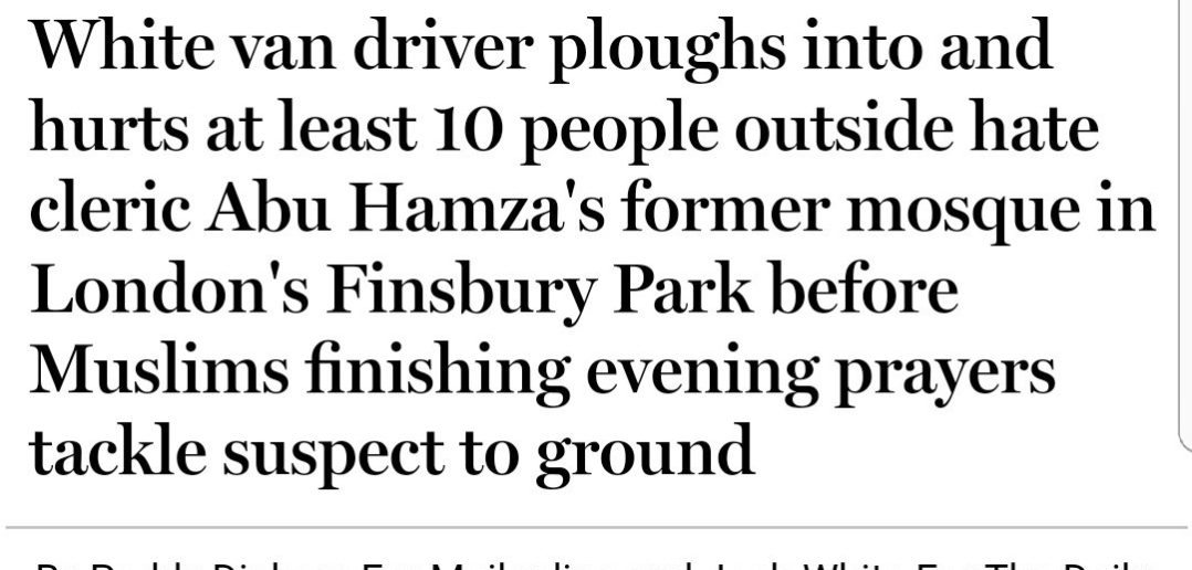 Daily Mail dehumanises victims of Finsbury attack